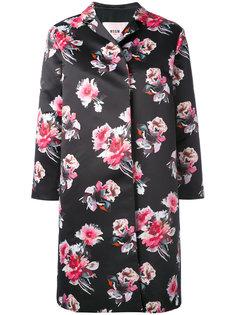 пальто с цветочным принтом MSGM