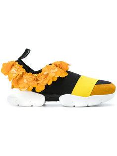 кроссовки без застежки с отделкой пайетками Emilio Pucci