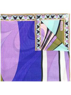 шарф с контрастным принтом Emilio Pucci