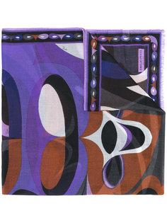 шарф с абстрактным принтом  Emilio Pucci