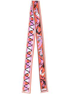 узкий шарф с геометрическим рисунком Emilio Pucci
