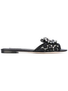 декорированные сандалии Dolce & Gabbana