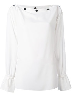 блузка с воротником-лодочкой с пуговицами Emilio Pucci