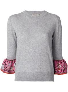свитер с оборчатыми манжетами Emilio Pucci