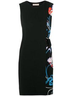 платье с цветочным принтом и поясом  Emilio Pucci