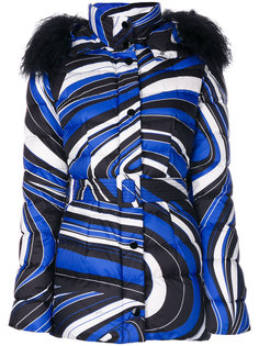 дутая куртка с рисунком из завитков Emilio Pucci