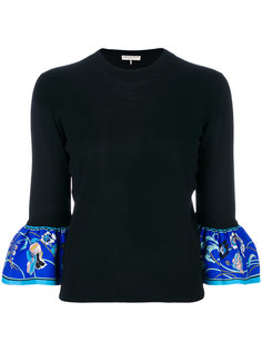 свитер с манжетами с принтом Emilio Pucci