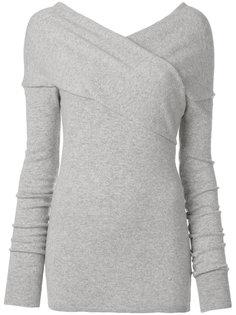свитер с деталью крест-накрест Emilio Pucci