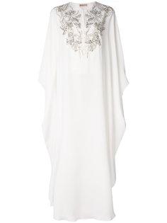 платье-туника с цветочной вышивкой  Emilio Pucci