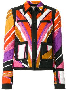 стеганая куртка с принтом Emilio Pucci