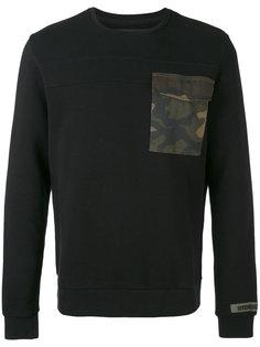 свитер с контрастной нашивкой Hydrogen