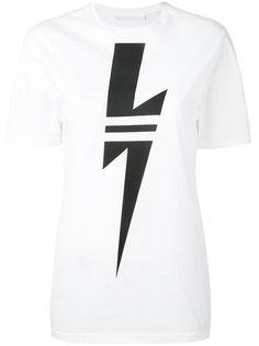 футболка с изображением молнии Neil Barrett