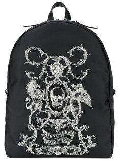 рюкзак с гербом-черепом  Alexander McQueen