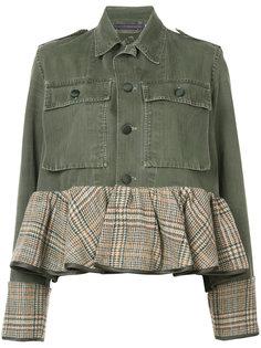 джинсовая куртка с баской Harvey Faircloth