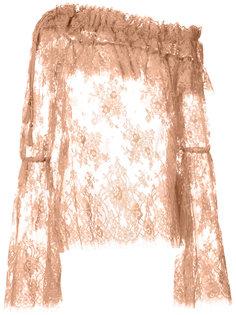 прозрачная блузка с рюшами Zimmermann