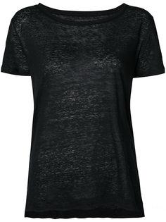 классическая футболка с круглым вырезом Majestic Filatures