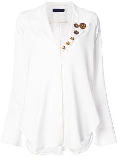 блузка с декоративными пуговицами на лацкане Ellery