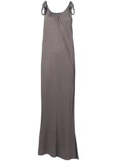 длинное платье с завязками на плечах Rick Owens Lilies