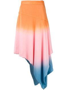 асимметричная юбка с градиентным узором JW Anderson