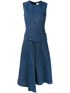 драпированное асимметричное платье  Victoria Beckham
