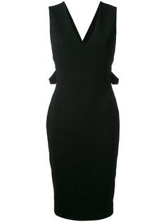 платье с лямками крест-накрест на спине Victoria Beckham
