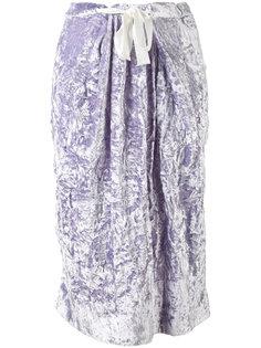 прямая юбка со складками по бокам Victoria Beckham