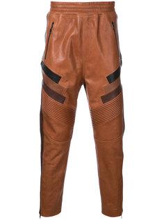 байкерские брюки с молниями Neil Barrett