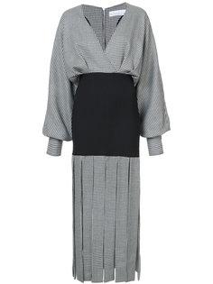 платье в ломаную клетку с бахромой Wanda Nylon