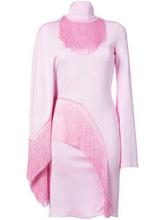 платье с высоким воротом и бахромой Givenchy