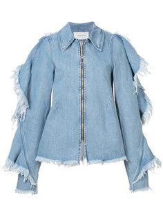 джинсовая куртка с необработанными краями Strateas Carlucci