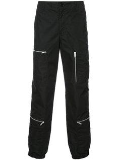брюки с декоративными молниями Undercover