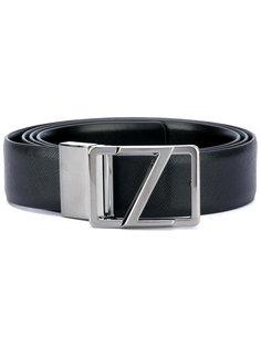 ремень с серебристой пряжкой Z Zegna