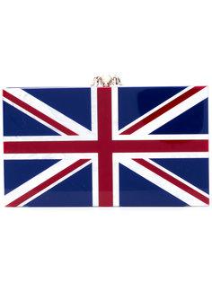 клатч с расцветкой Английского флага Charlotte Olympia