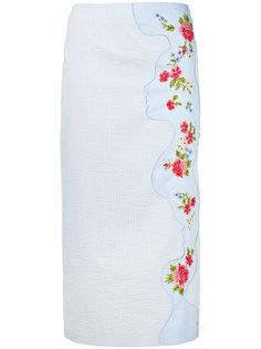 юбка с цветочной вышивкой Vivetta