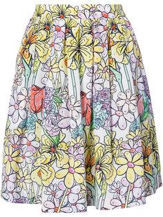 юбка с принтом paint by number Moschino