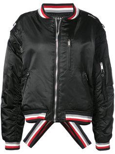 куртка-бомбер с контрастными полосками Icosae