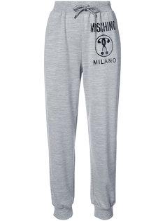спортивные брюки со стяжкой и логотипом Moschino
