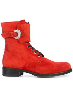 армейские ботинки с пряжкой сбоку Dorateymur