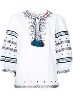 вышитая блузка Zoya в пейзанском стиле Talitha