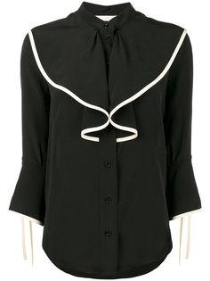 блузка с рюшами без воротника Chloé
