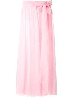 прозрачная юбка из тюля MSGM