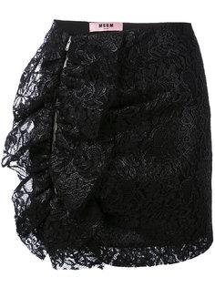 мини юбка с рюшами MSGM