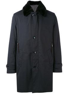 пальто с отделкой из меха бобра Brioni
