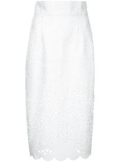 юбка-карандаш с декоративными вырезами Bambah