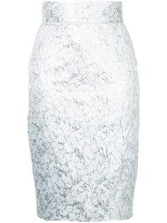 жаккардовая юбка-карандаш  Bambah