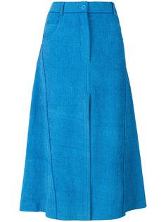 расклешенная юбка с отделкой в рубчик Nina Ricci