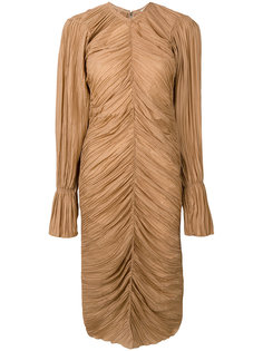 присборенное платье длины миди Nina Ricci