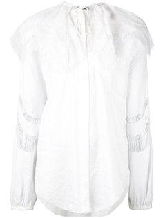 блузка с кружевным воротником-пелериной Nina Ricci
