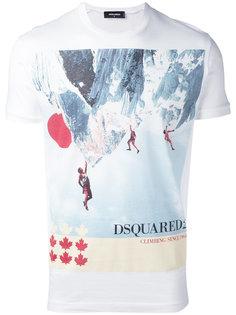 футболка с принтом скалолазов Dsquared2