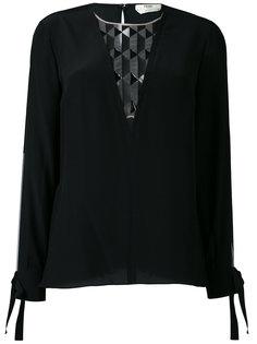 блузка с прозрачными вставками Fendi